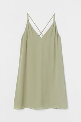 H&M V-neck slip dress