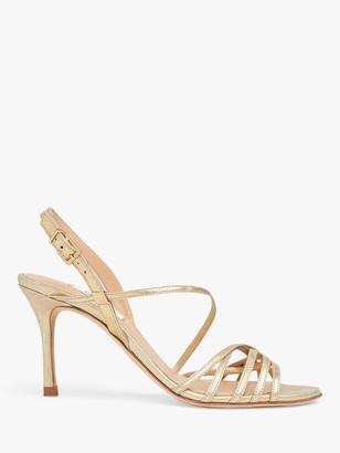 LK Bennett Naja Stiletto Leather Sandals, Gold