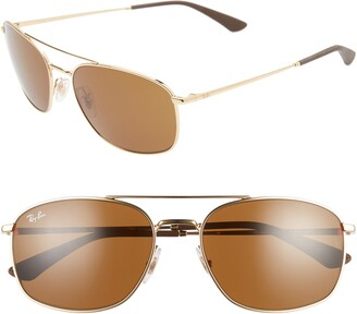 Ray-Ban 60mm Aviator Sunglasses