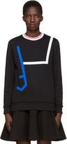 Versace Black Contrast Collar Pullover