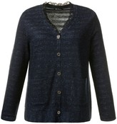 Ulla Popken Cardigan with Lace Detail