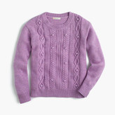 J.Crew Girls' wool cable-knit sweater