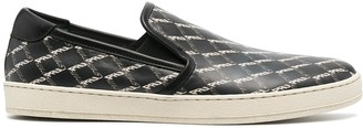 Paul Smith Checked Print Slip-On Sneakers