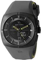 Rip Curl Men's A2780-CHA Havok Analog-Digital Black Watch with Silicone Band