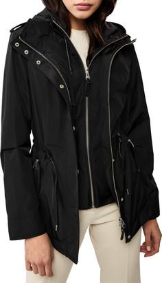 Mackage Melita Hooded Rain Jacket w/ Covered Placket