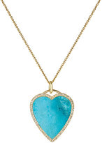 Jennifer Meyer Women's White Diamond & Turquoise Heart Pendant Necklace