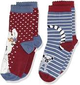 Fat Face Girl's 2Pk Llama Socks,(Manufacturer Size: 9-12)