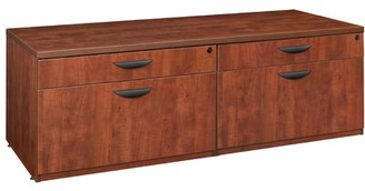 Hathcock Double Lateral Low Credenza Red Barrel Studio Finish: Cherry