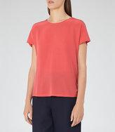 Reiss Tia Silk Front T-Shirt