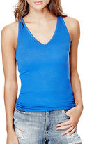 GUESS Ribbed V-Neck Tank Top