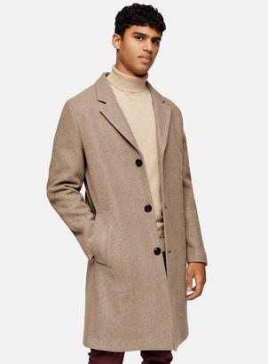 Topman Oat Classic Overcoat