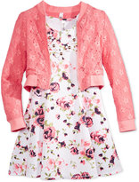 Beautees 3-Pc. Lace Bomber Jacket, Dress & Necklace Set, Big Girls (7-16)