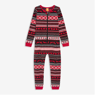 Joe Fresh Kids' Fleece Sleeper, Red (Size L)