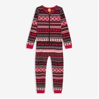 Joe Fresh Kids' Fleece Sleeper, Red (Size M)