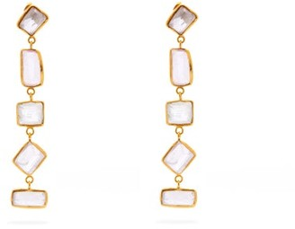 Pippa Small Turquoise Mountain - Marwa 18kt Gold-vermeil & Kunzite Drop Earrings - Womens - Gold