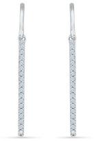 Zales 1/4 CT. T.W. Diamond Stick Drop Earrings in 10K White Gold