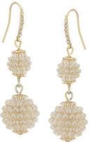 Carolee Pav Pearl Disc Drop Earrings