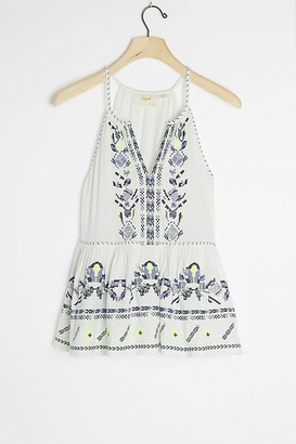 Maeve Neela Embroidered Babydoll Top