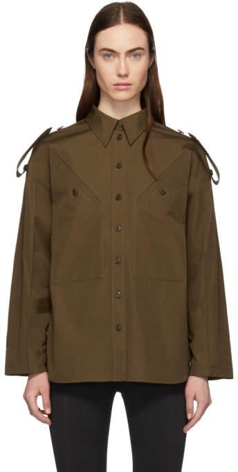 Givenchy Khaki 4G Military Shirt
