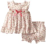 Rare Editions Baby Girls Infant Floral Popover Set