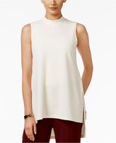 Alfani Petite Mock-Neck High-Low Top, Only at Macy's