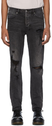 Ksubi Black Chitch Rat Angst Trashed Jeans