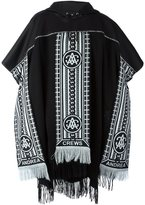 Andrea Crews hooded scarf detail poncho