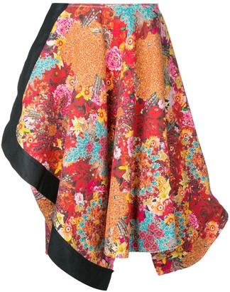 Comme Des Garçons Pre-Owned Floral Print Asymmetric Skirt