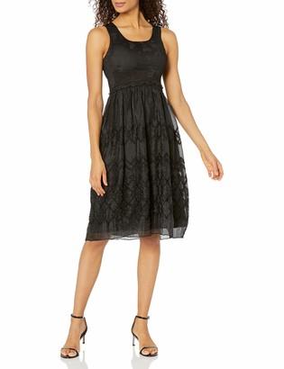 Max Studio Women's Smocked Jacquard Panel Dress