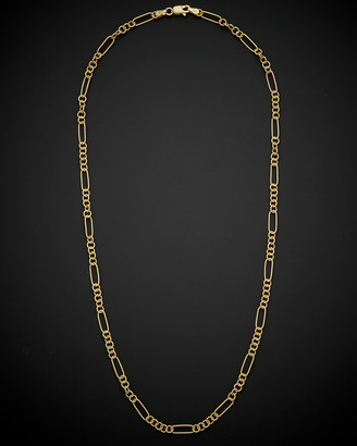 Italian Gold 14K Textured Link Necklace