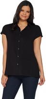 Halston H By H by Jet Set Jersey Extended Shoulder Tunic with Collar
