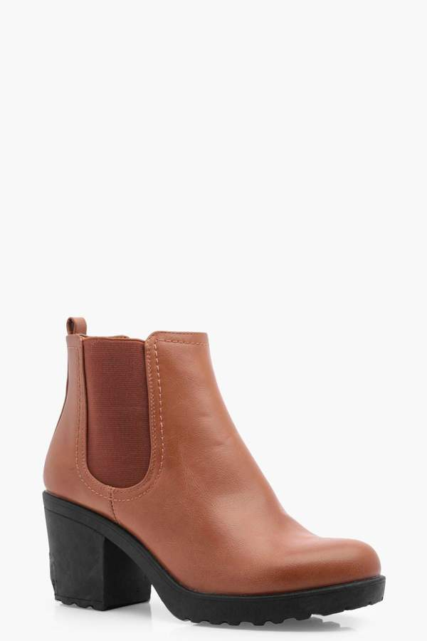 6d2aee58b63 Chunky Heel Chelsea Boots - ShopStyle