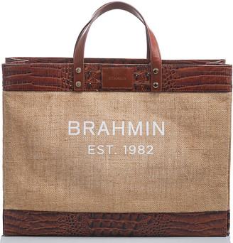 Brahmin Meredith Pecan Burlap