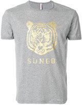 Sun 68 tiger print T-shirt