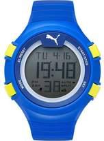 Puma PU911281004 Gray / Blue Polyurethane Digital Quartz Unisex Watch