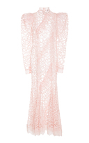 Jill Stuart Dorit Butterfly Lace Midi Dress