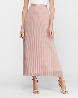 Express High Waisted Pleated Maxi Skirt