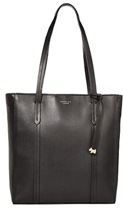 Radley London Alba Place - Medium Zip Top Tote (Black) Handbags