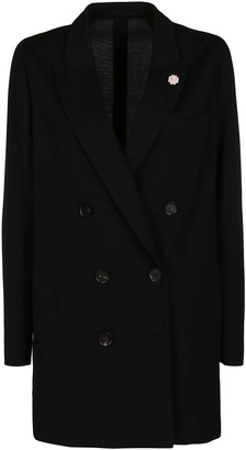 Lardini Black Wool Blazer