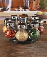 Eight-Jar Contempo Round Spice Rack Set
