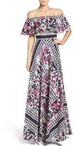 Eliza J Petite Women's Off The Shoulder Maxi Dress