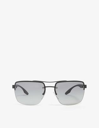Prada Linea Rossa PS60US rectangle-frame aviator sunglasses