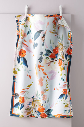 Anthropologie Briony Floral Dish Towel By in Blue Size DISHTOWEL