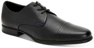 Calvin Klein Men's Dominick Soft Tumbled Leather Oxfords Men's Shoes
