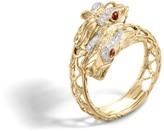 John Hardy Naga Double Head Bypass Ring with Diamonds