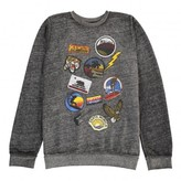 Californian Vintage Pins Distressed Patches Sweatshirt