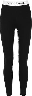 Paco Rabanne Body Milano Black Stretch-jersey Leggings