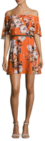 ABS by Allen Schwartz Off Shoulder Floral Print Flared Dress