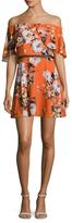 ABS by Allen Schwartz Off The Shoulder Floral Print Flared Dress
