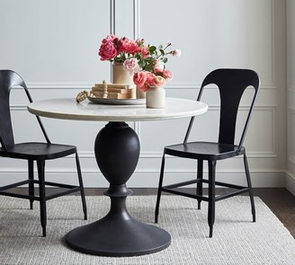 Pottery Barn Chapman Round Marble Pedestal Dining Table